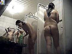3 movies - Thick puss lets voyeur cam film her nude in shower
